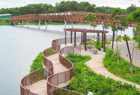Red Bridge at lorong halus park