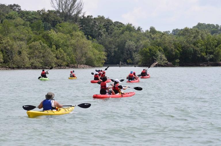 Kayakers kayaking at Round Ketam trail