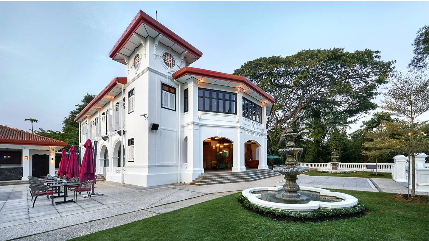 facade of Alkaff Mansion in Singapore