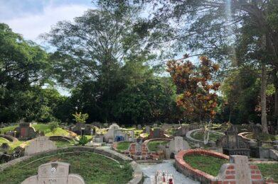 Tombs at Bukit Brown Cemetery
