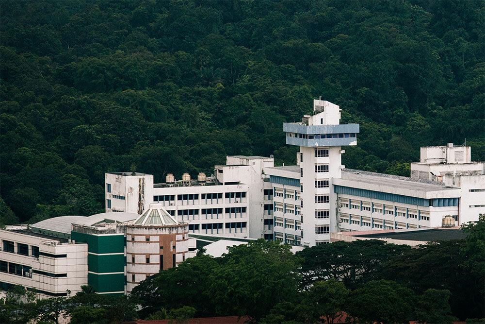aerial view of Caldecott broadcast centre