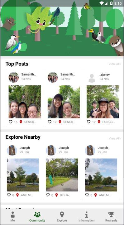 Mobile app screenshot of coast to coast trail