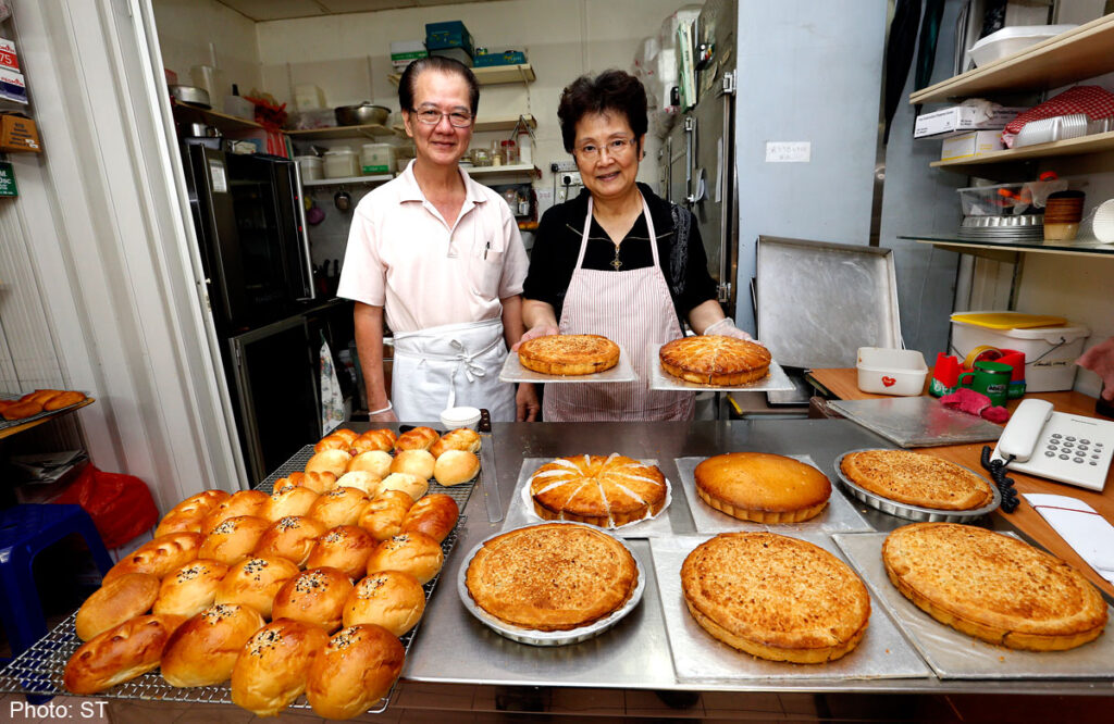 Assortment of pies at Donna Manis Cake Shop