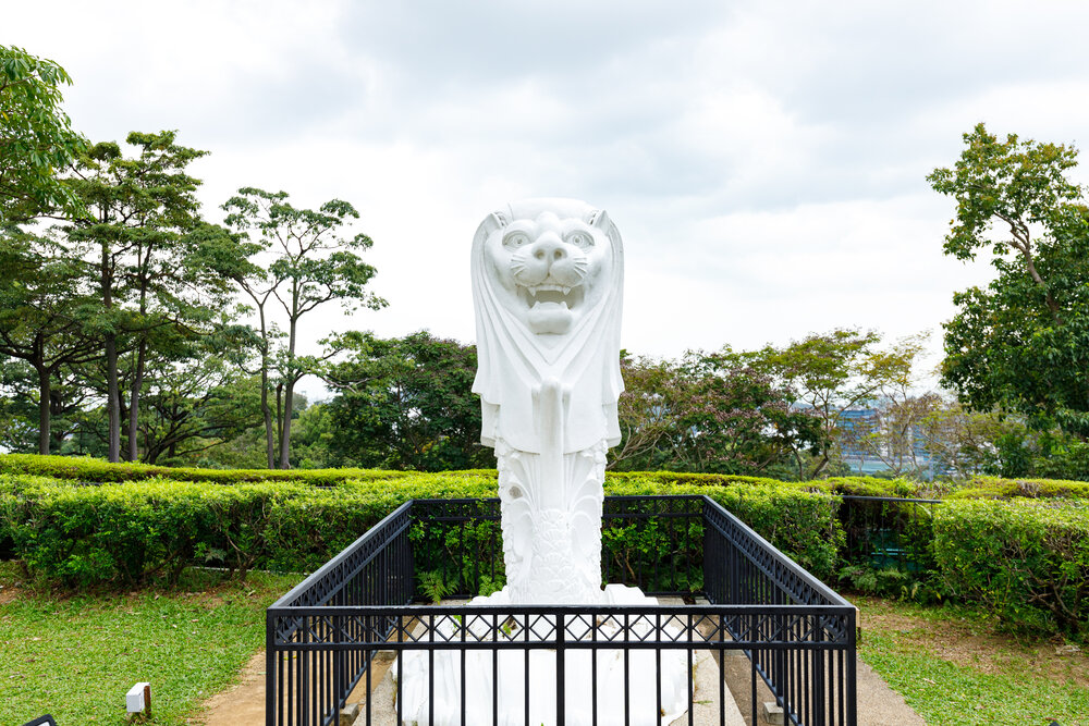 Merlion statue at Faber Point