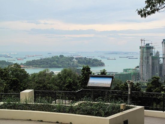 View of southern islands from Faber point Singapore