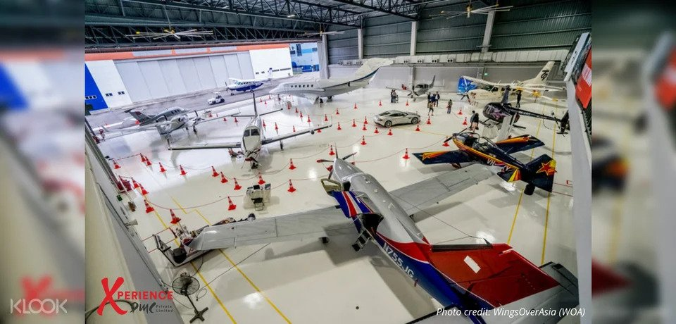 Tour of hanger in Singapore