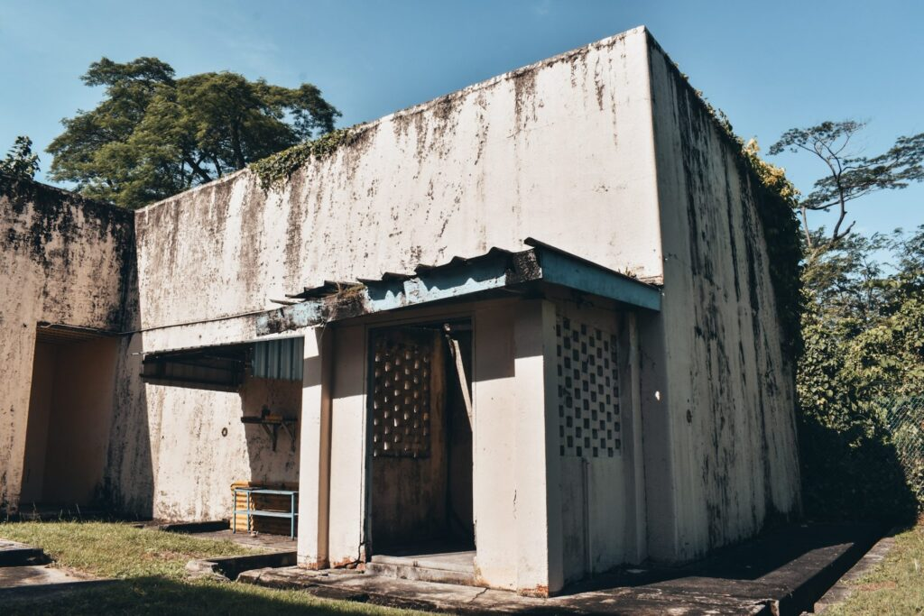 bomb proof offices in abandoned Former View Road Hospital