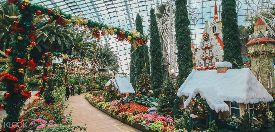 Interior of Gardens by the bay during Christmas
