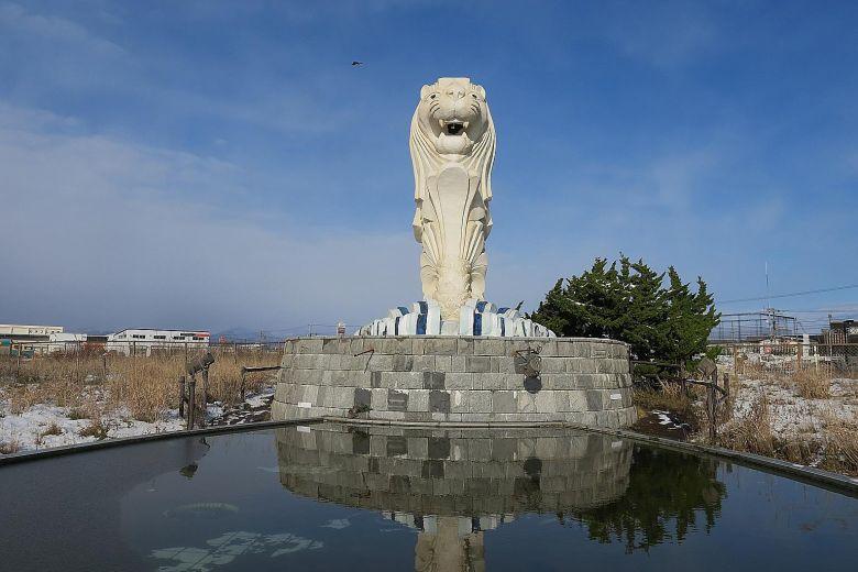 Merlion statue at Hakodate, Japan