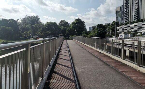 Bridge with railway tracks along Jurong Railway
