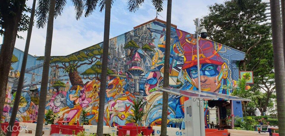 Graffiti painting at Kampong Gelam Singapore