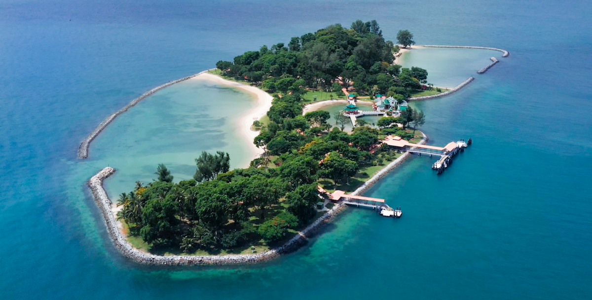 Aerial view of Kusu Island