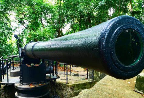 Large gun replica at Singapore labrador park