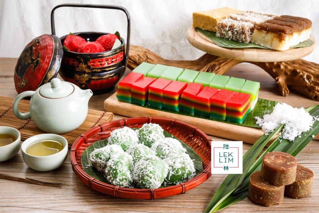 Assorment of nonya cake at Lek Lim Nonya Cake Confectionery