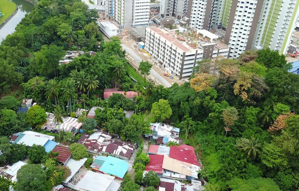 Aerial view of Lorong Buangkok Kampong