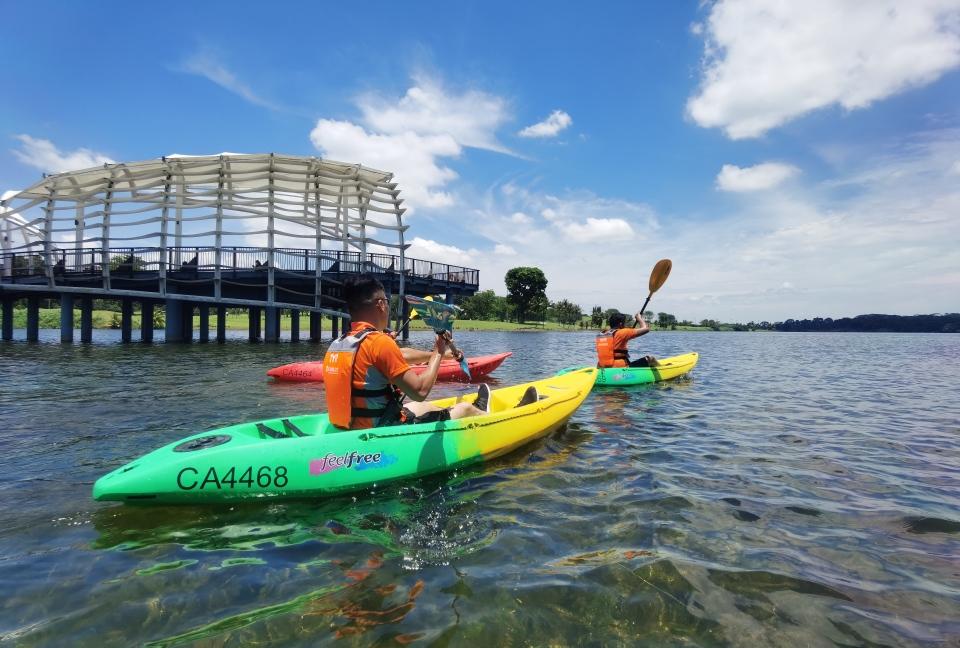 kayakers kayaking at Lower Seletar Reservoir