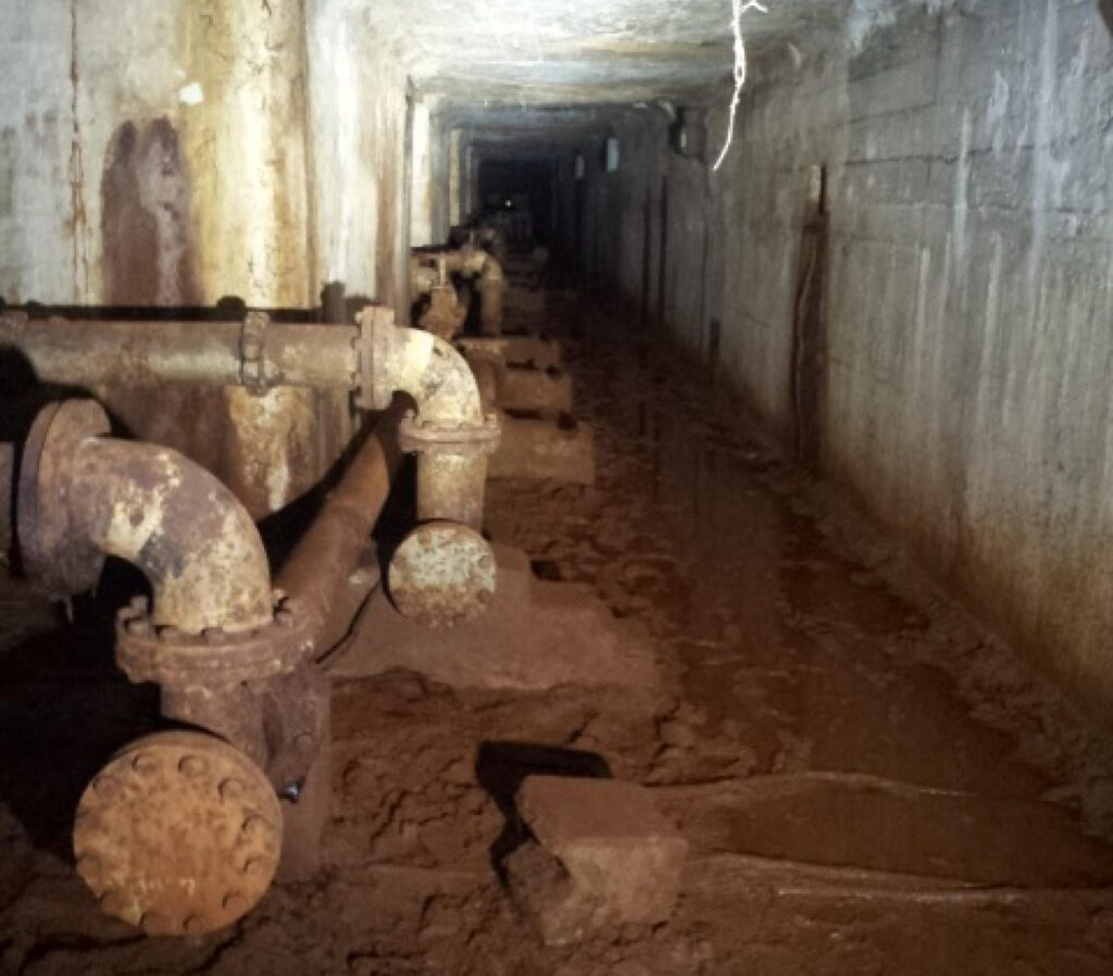 pipelines inside Marsiling tunnels at woodlands