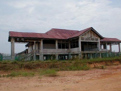 facade of abandoned matilda house