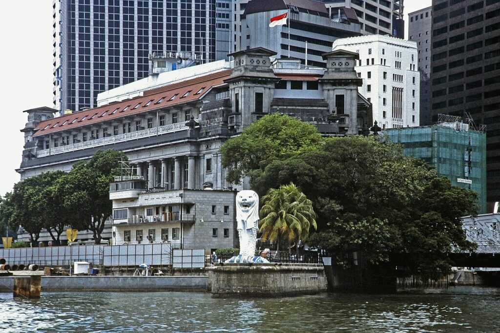 Merlion Park in Singapore in 1994