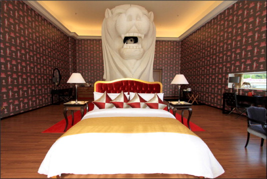 Merlion statue converted into hotel