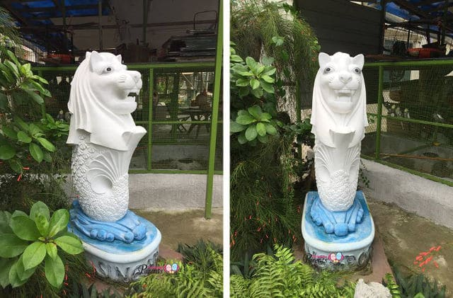 Merlion statue at woodlands Singapore