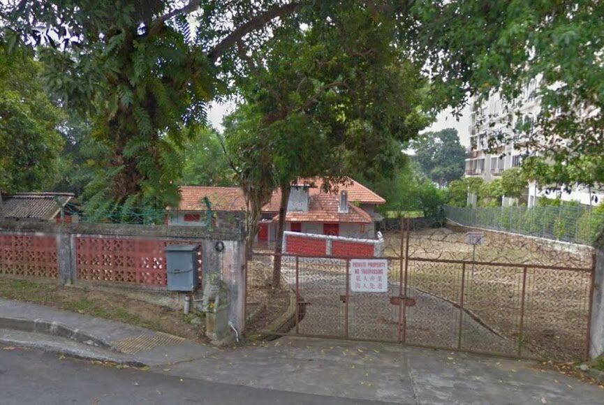 Outside view of abandoned Pasir Ris Haunted Red House
