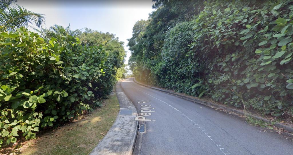 Steep slope at pepys road