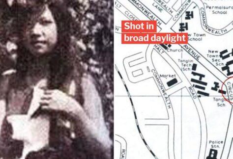 map of 1972 queenstown sniping murder