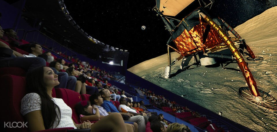 Viewers watching movie at Science Centre Omni theatre