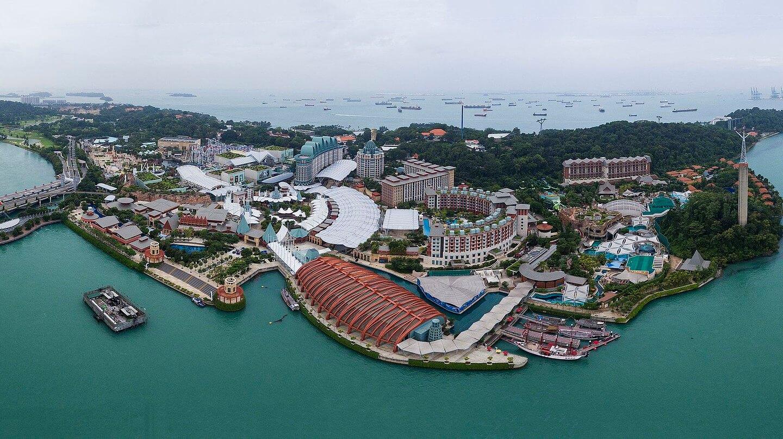 Aerial view of sentosa island
