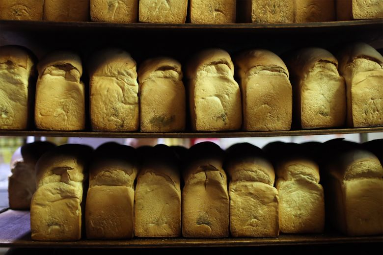 White loave bread at Sin Hon Loong Bakery