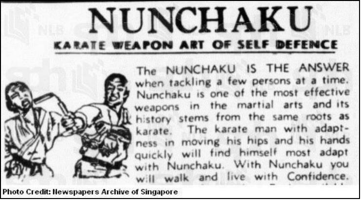 You are currently viewing Singapore 1972 Nunchaku Ban