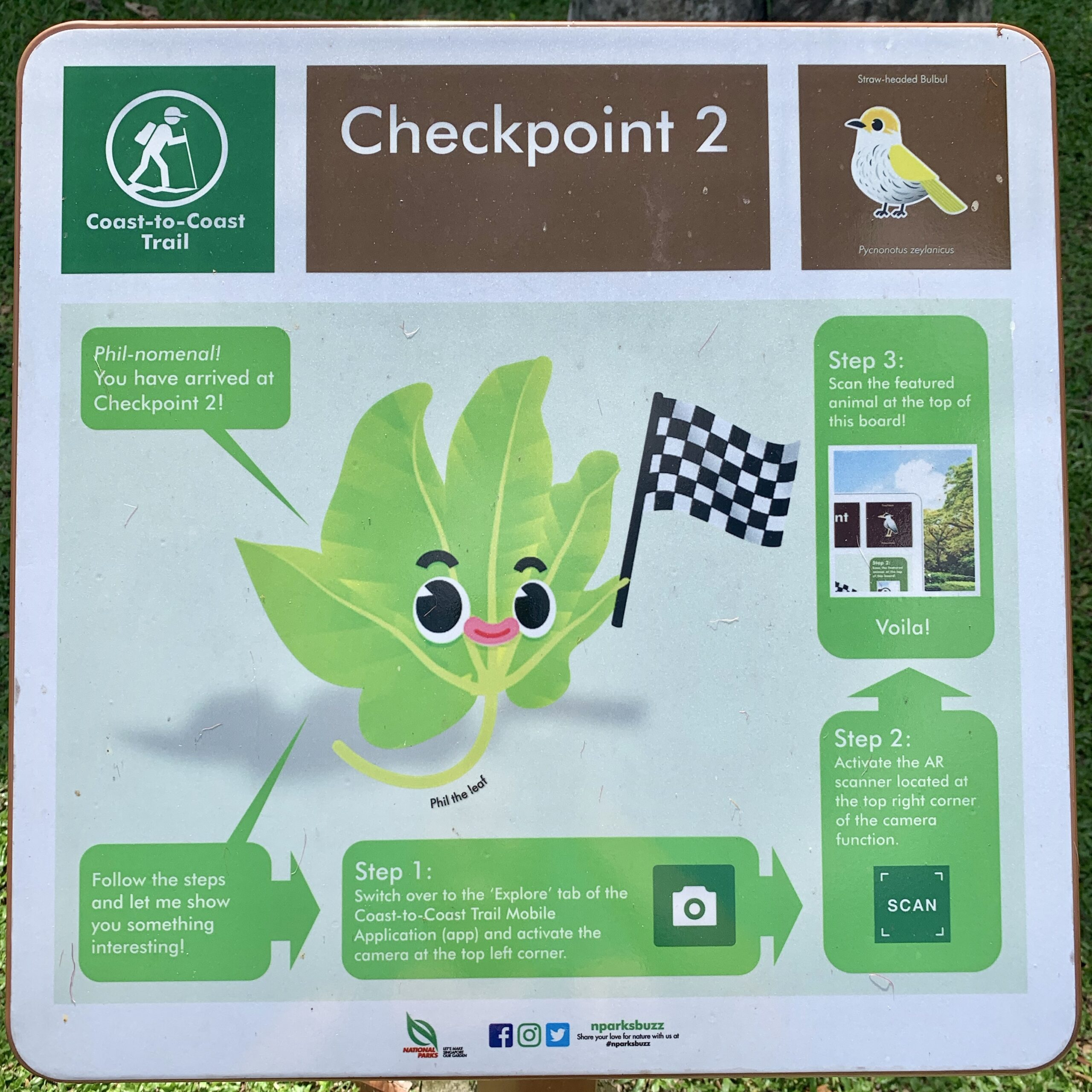 Checkpoint two of Singapore coast to coast trail