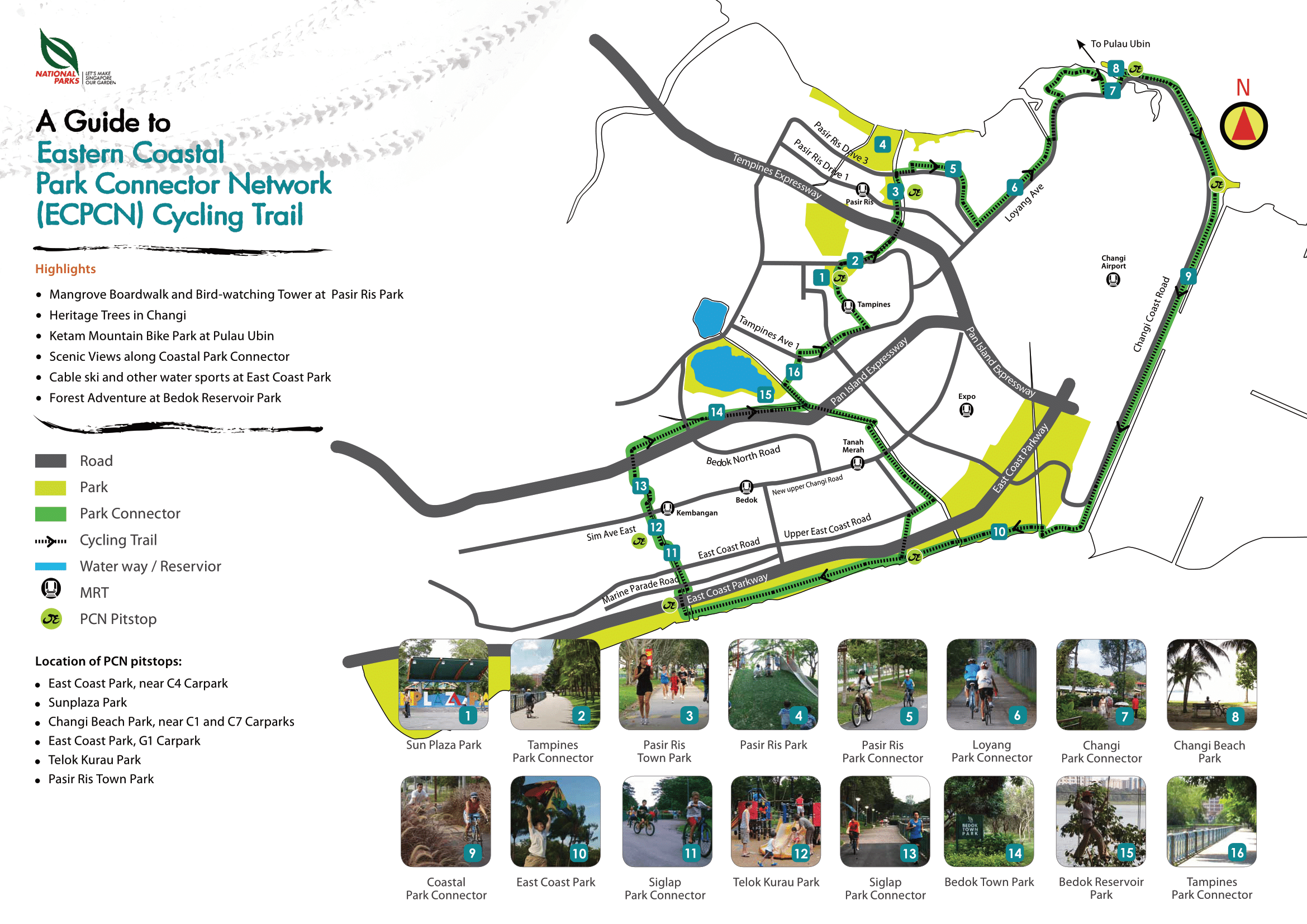 trail map of Singapore eastern coastal loop
