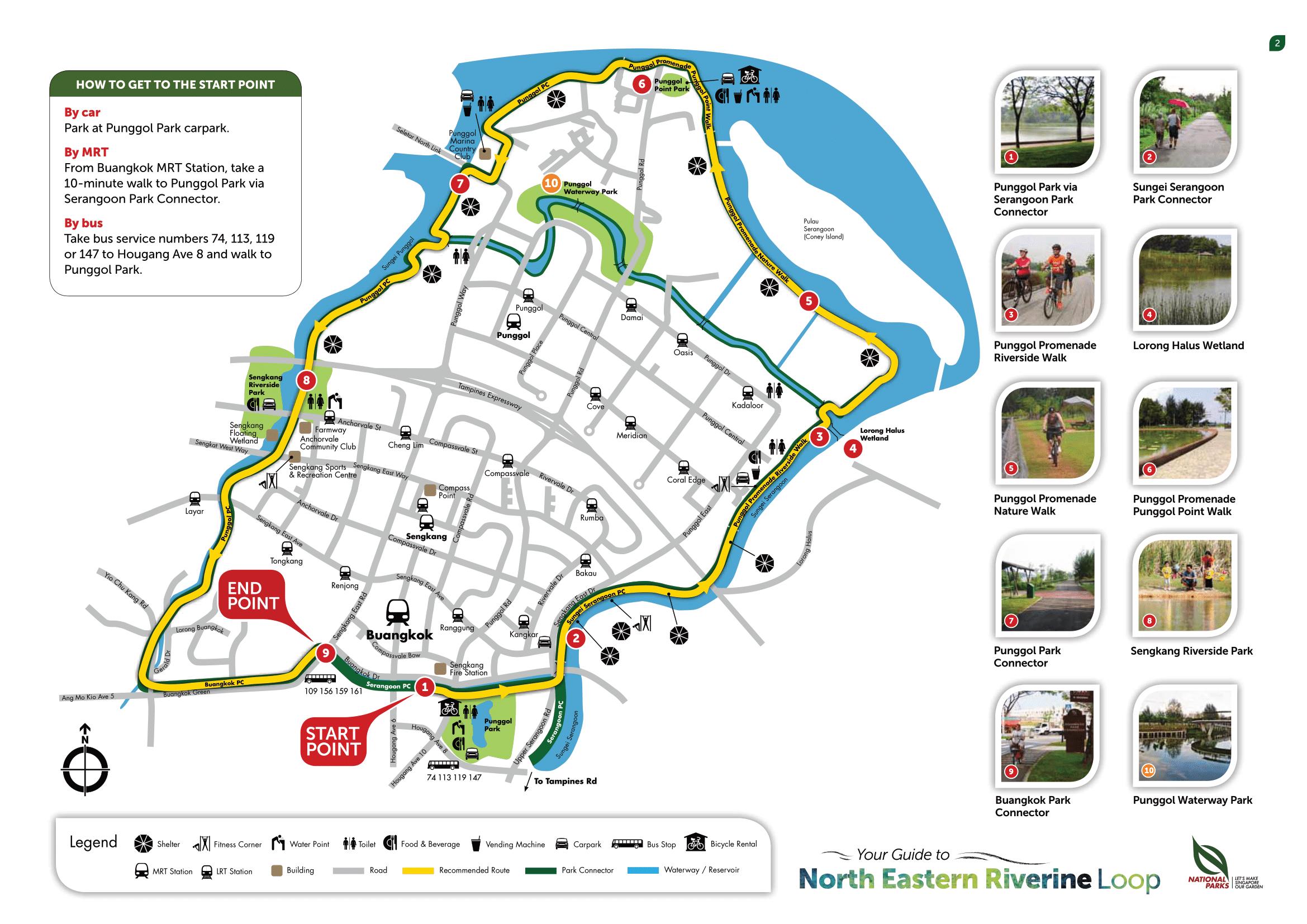Map of Singapore North East Riverine Loop