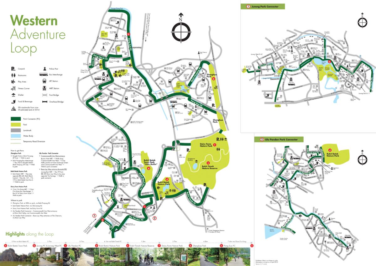 Map of Singapore Western Adventure Loop
