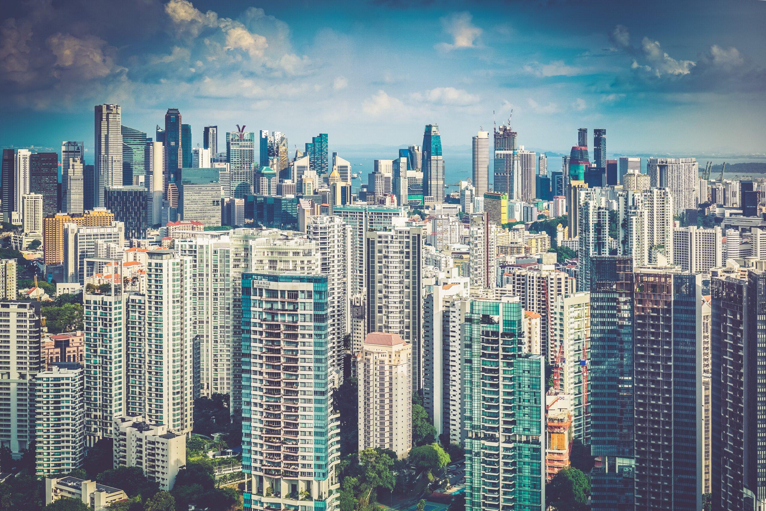 Cityscape of Singapore island
