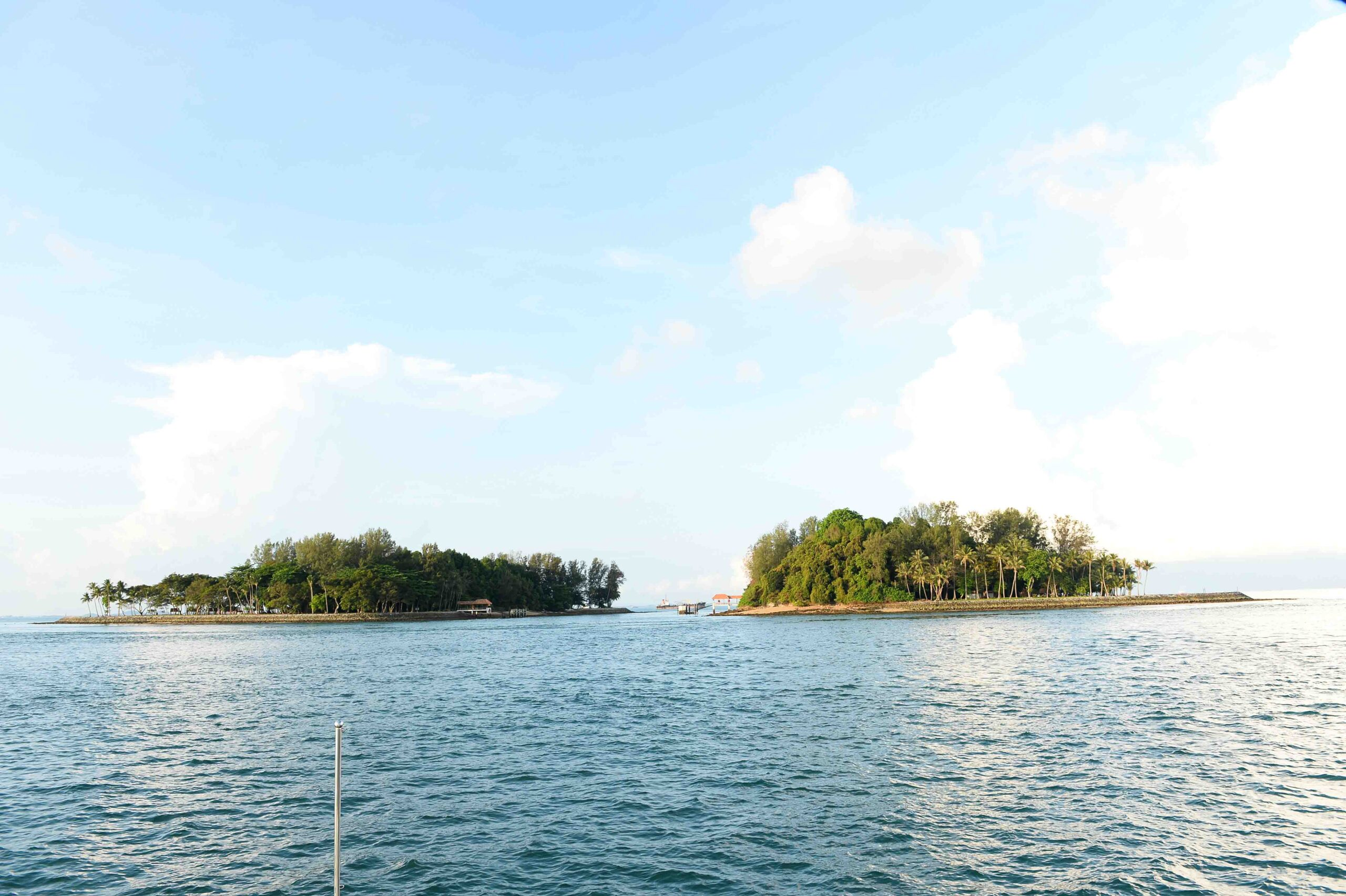 View of Sisters Island Marine Park from a boat