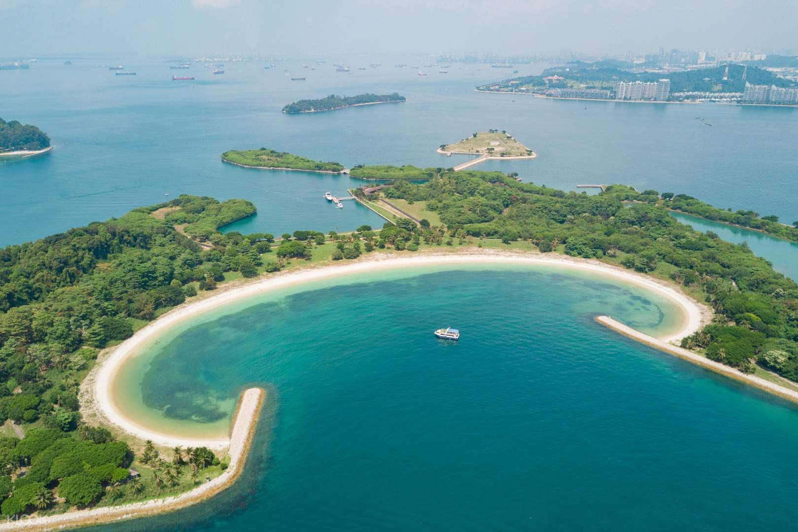 Aerial view of lazarus island