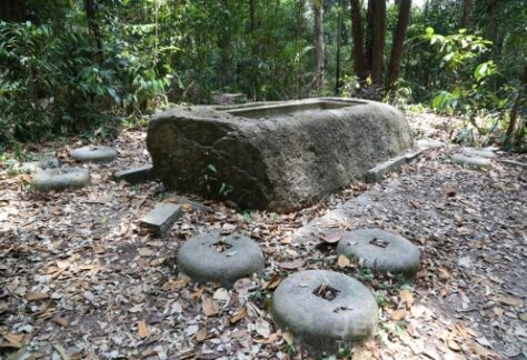 abandoned structure at syonan jinja in Macritchie reservoir