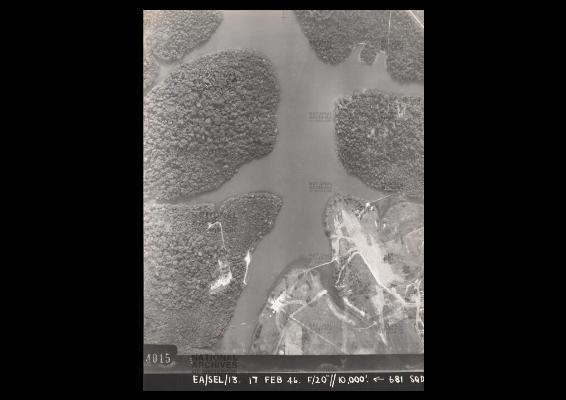 Aerial view of syonan jinja in Macritchie reservoir