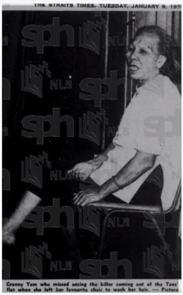 granny yam in 1979 Tan family Geylang Bahru murder