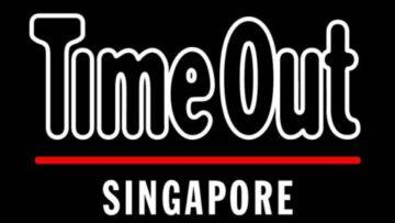 Timeout Singapore large logo in black background