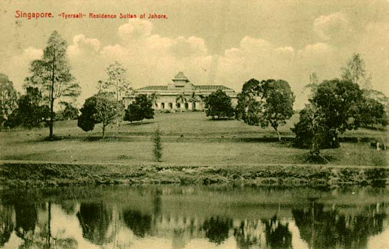 colored photo of Istana Tyersall house