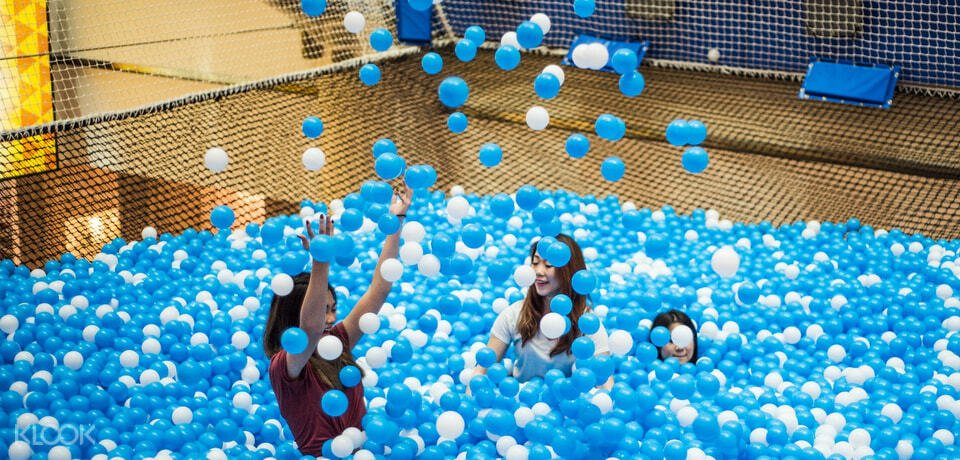 Children having fun at airzone elevated playground in Singapore