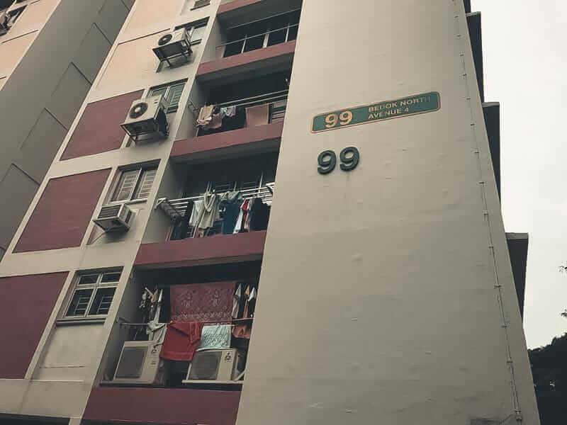 Facade of block 99 bedok north avenue 4
