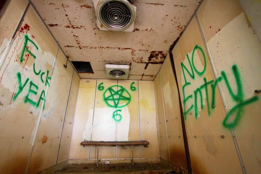 elevator shaft in old changi hospital