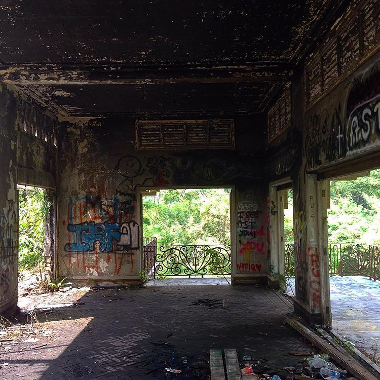 graffiti of walls in abandoned Istana woodneuk