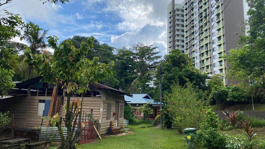 Contrast of kampong lorong buangkok and new hdb flats