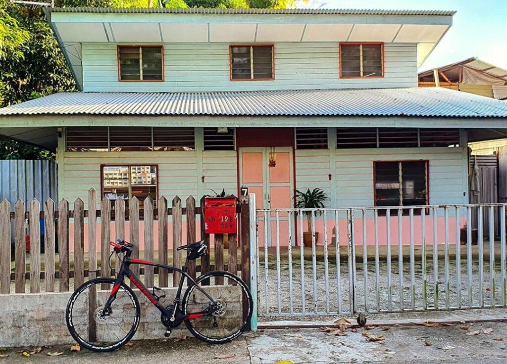 iconic kampong house with zinc roof at kampong lorong buangkok